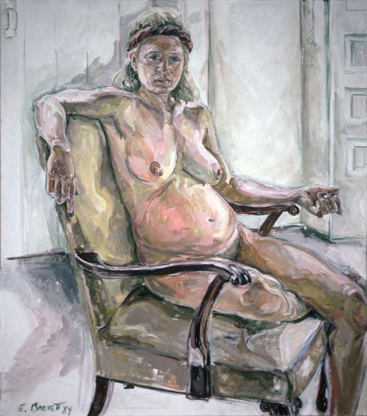 Diana, Pregnant, 1984, Oil on Canvas, 50 x 44