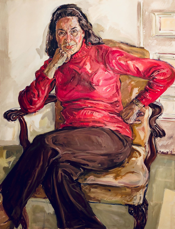 "Ann Levere, 50"" x 38"", Oil on Canvas, 1981"