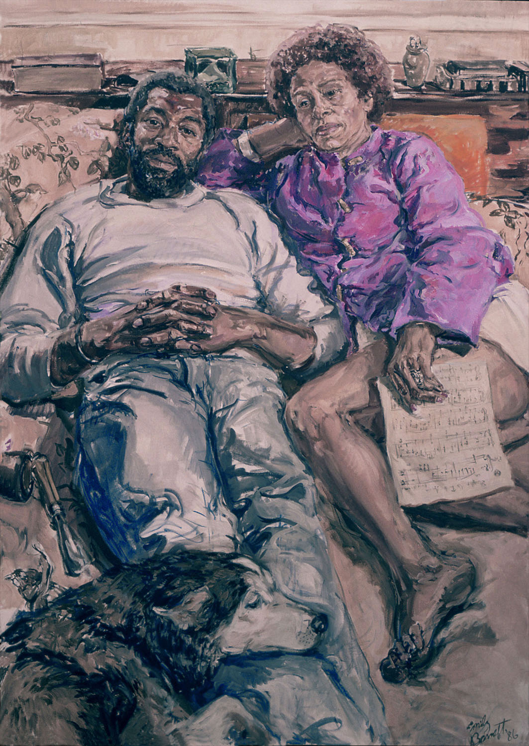 Faust and Miriam, 1986, Oil on Canvas, 55 x 42