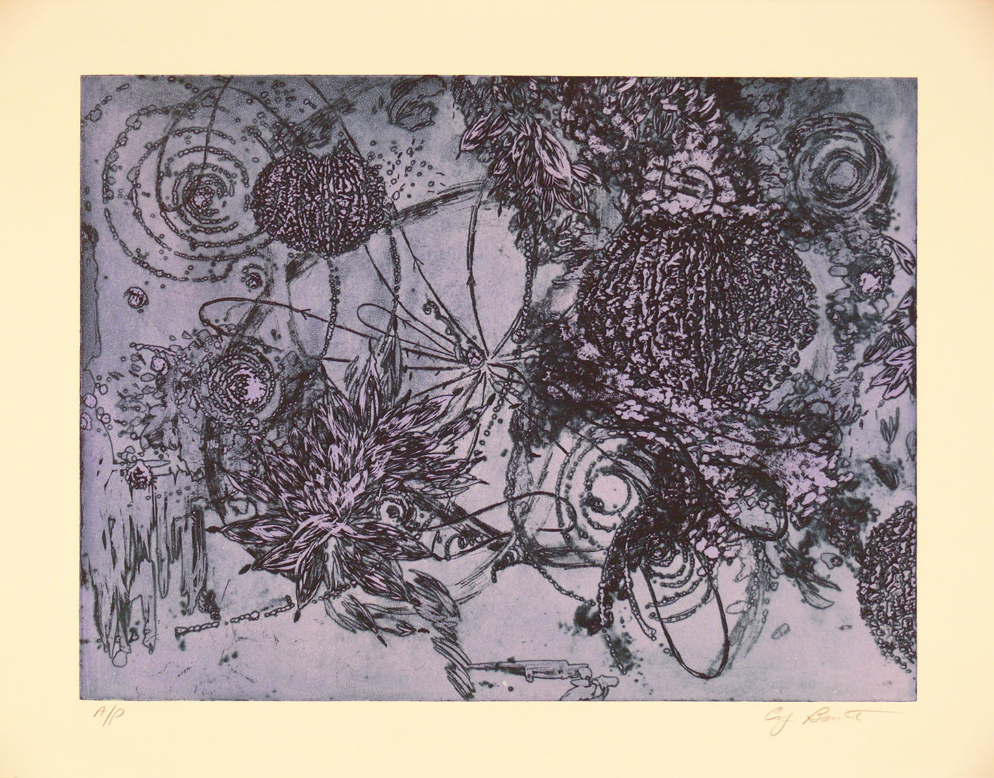 Microcosms Violet, 2006, Viscosity Etching, 22 x 30