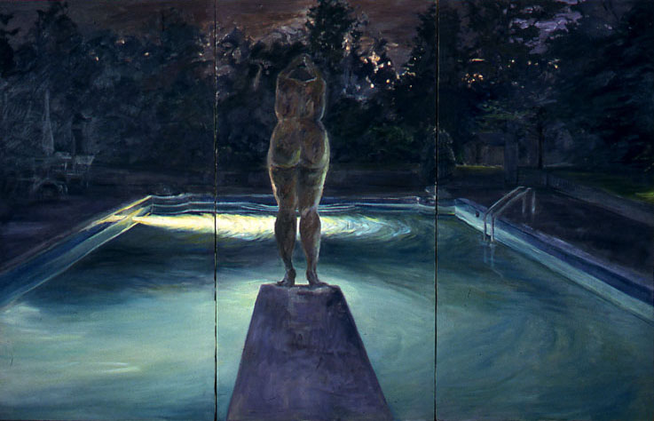 The Dive, 1996, Oil on Canvas, 48 x 72