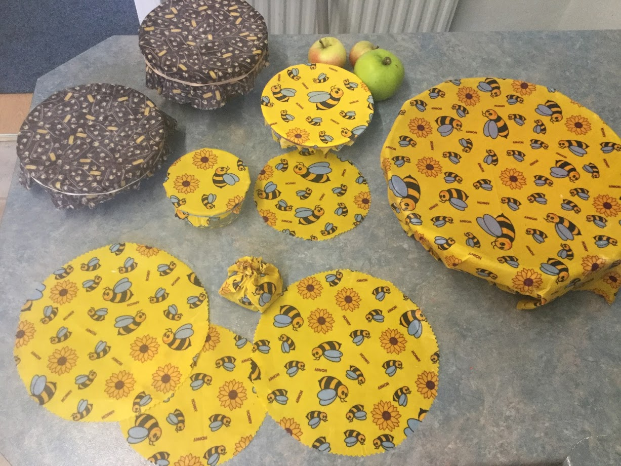 Beeswax wraps can be made in all different sizes
