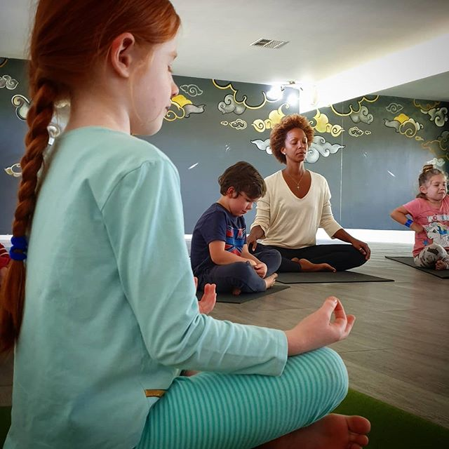 """""""You are the bows from which your children as living arrows are sent forth. The archer sees the mark upon the path of the infinite,and He bends you with His mightthat His arrows may go swift and far."""" ~ @khalilgibran1 Day 1 of My YOGA & MINDFULNESS FOR CHILDREN Teacher's training with @yogi_bee_zz - I am beyond ecstatic learning methods and tools to empower, exercise and educate the whole child through yoga and mindfulness. The training combines combines traditional yoga with principles of Montessori. As a writer of spiritual books for children @malaikaandtheangel (and of more books coming out...stay tuned, a new story is coming out May/June 🤗), I've wanted to deepen my understanding of children's development and equip myself with knowledge to better stimulate and nurture our little ones. I have a smile from one ear to the next. I am so hugely grateful for the awesome teacher @suziseha and curriculum of @yogi_bee_zz 🙏🏽 I still had to manage @yswara stuff at each break and after-class 😅 but I am grateful for an awesome team 🙏🏽 #blessed #grateful #continuouslearning #kidsyoga #mindfulness #consciousness / @jessika.rainbow.body @teeisfeld @ubudyogacentre #Mony looking through the door of your children's yoga class inspired me to go for this teacher's training. Namaste darling sisters 🙏🏽"""