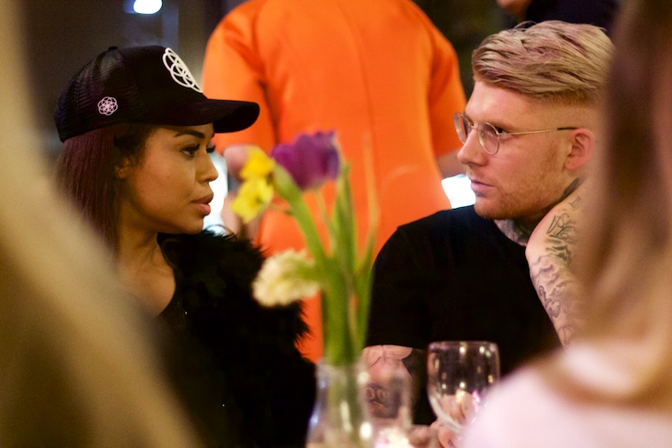 Sarah-Jane Crawford (@sarahjanecrawford) and I in deep discussion, as per!