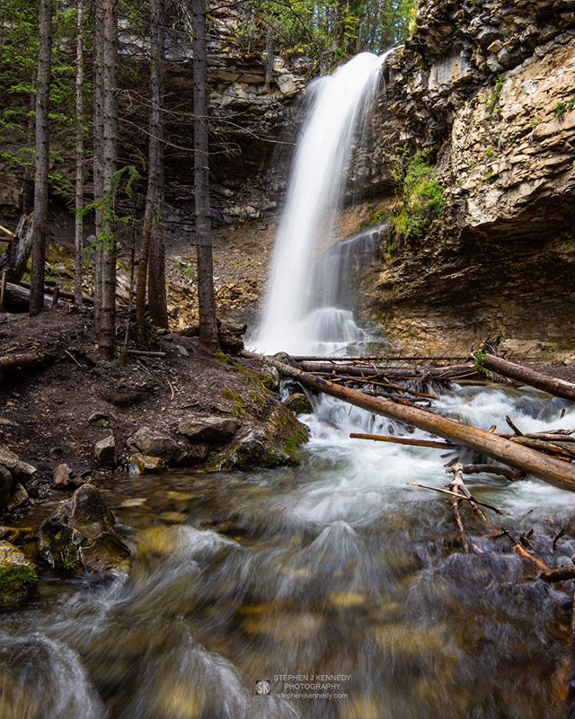 Off the beaten track enroute from Calgary to Banff, lies Troll Falls. I took this shot knee deep in water. Suffice to say it was a quick photo. The water of the Canadian Rockies is numbingly ice cold, even in summer. _______________________________________________________ Canon 5D Mk III + Tamron 15-30mm at 24mm; 1/5sec at f/22; ISO 100 _______________________________________________________
