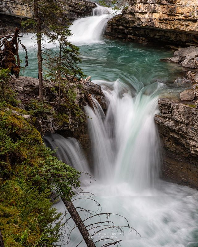 Johnston Canyon - The Canadian Rockies never cease to amaze. This is the route to the upper falls of Johnston Canyon, just off the Bow Valley Parkway between Banff and Lake Louise.  The turquoise colour of the canyon rapids is never tiring to watch. _______________________________________________________ Canon 5D Mk III + Canon 24-70mm at 50mm; 1/4sec at f/22; ISO 100 _______________________________________________________