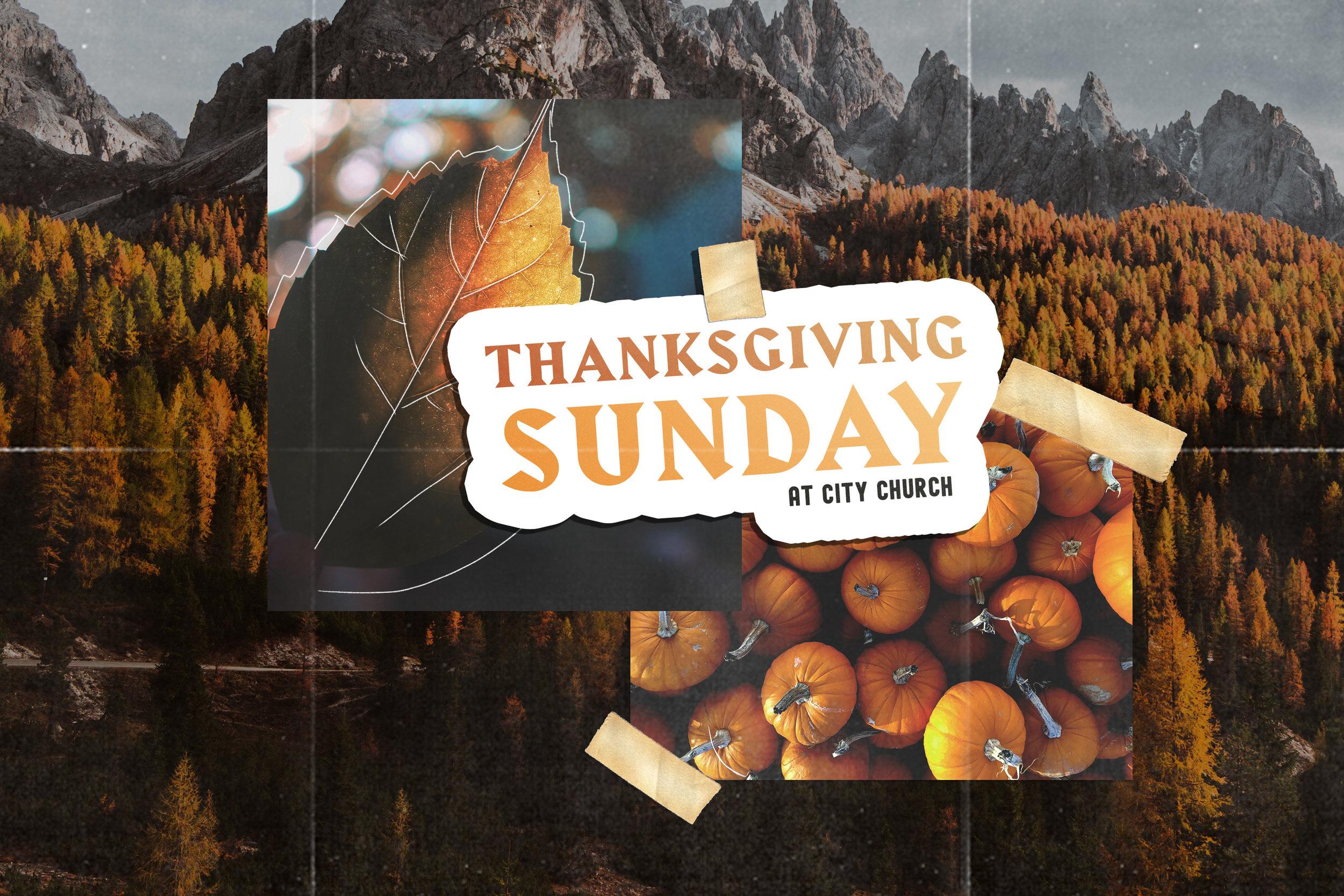 Thanksgiving Sunday At City Church San Diego
