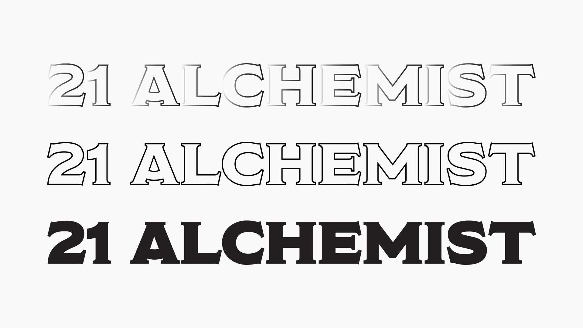 21 Alchemist logo variations.