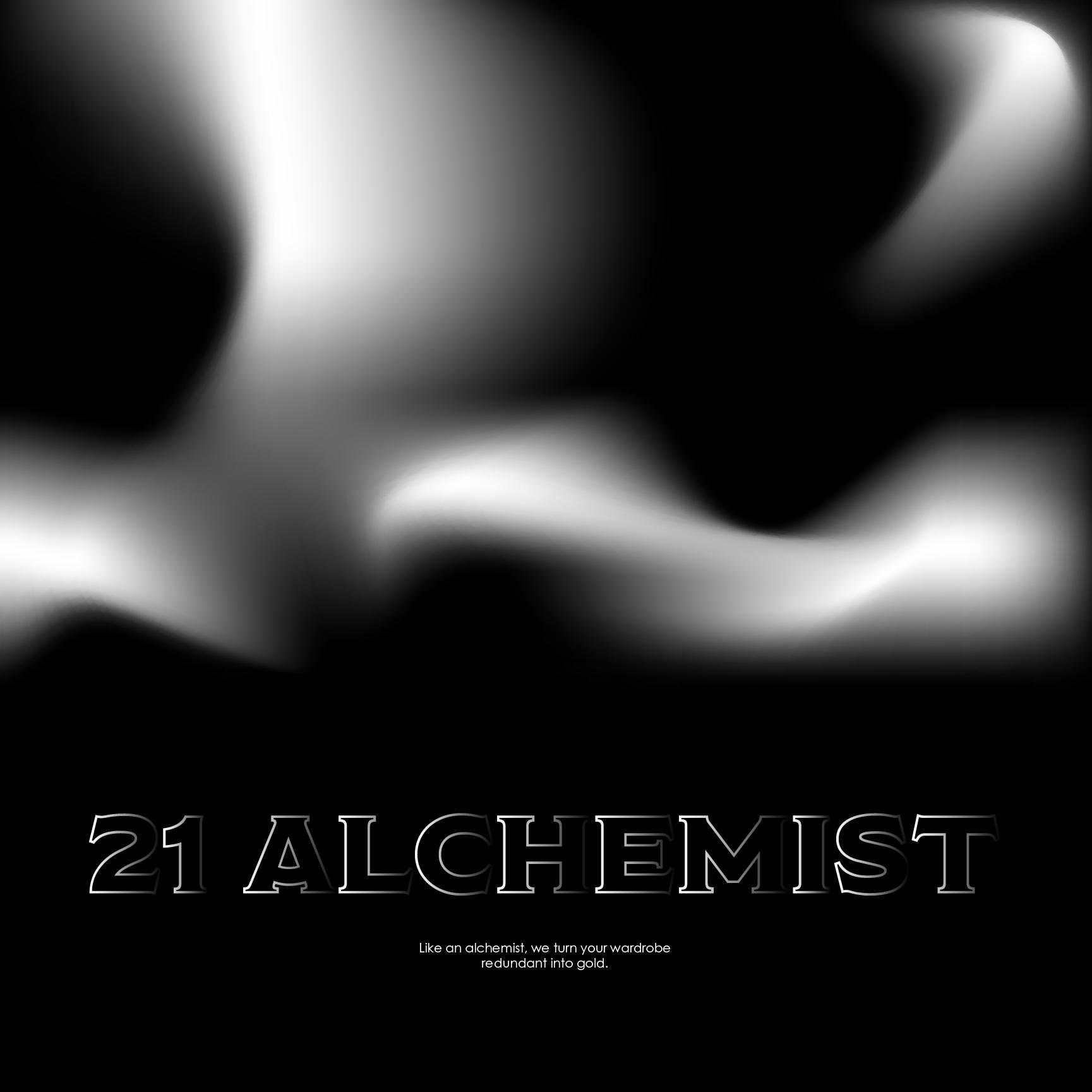 21 Alchemist tagline visuals.