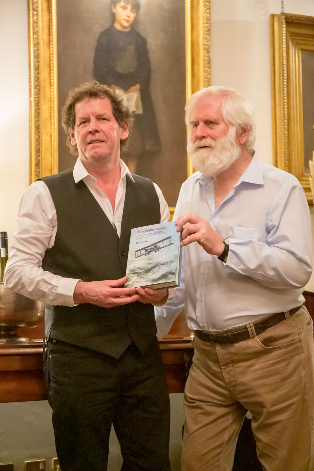 Tony Curtis with John Sheahan, who supplied the wonderful music at the event - and This Flight Tonight