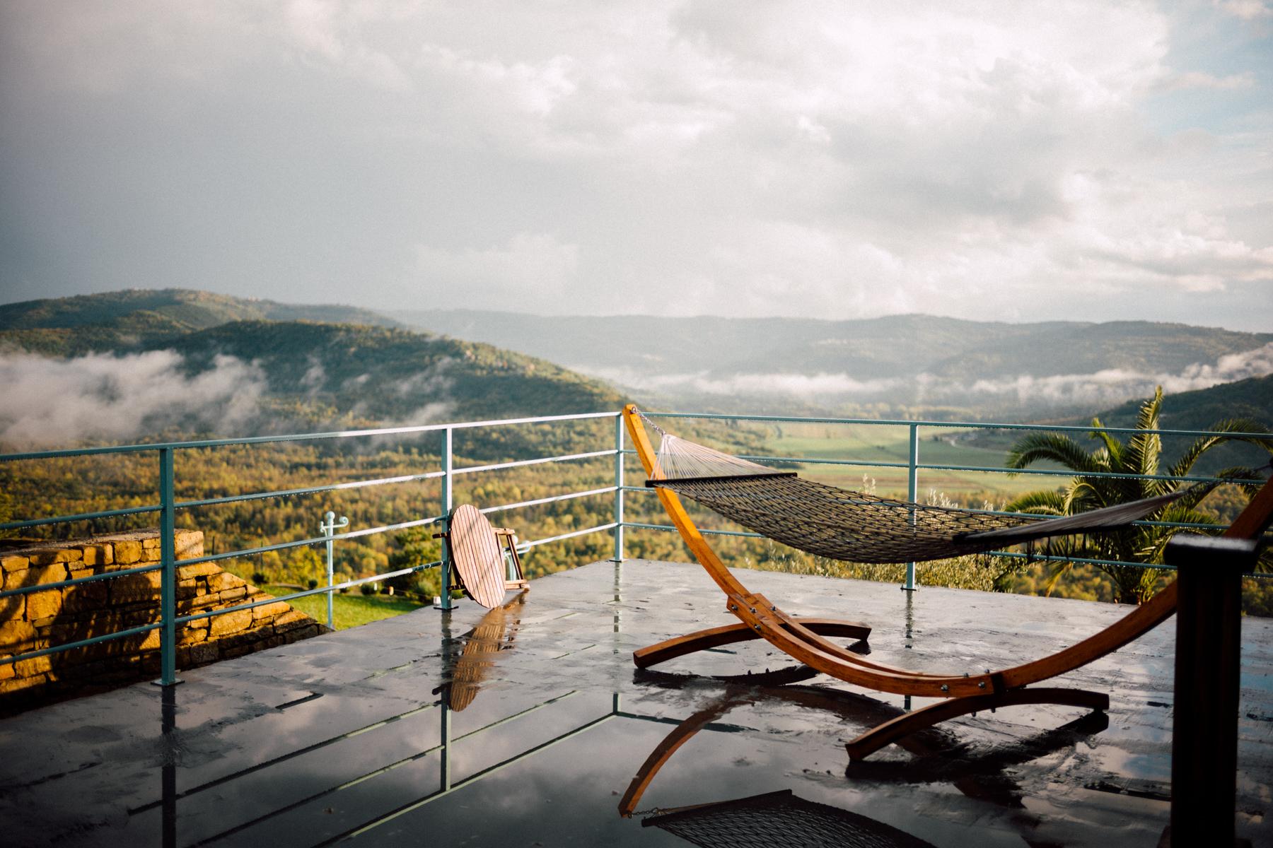 Writer's Hammock in Istria County, Croatia. Photo by Malika Ali Harding.