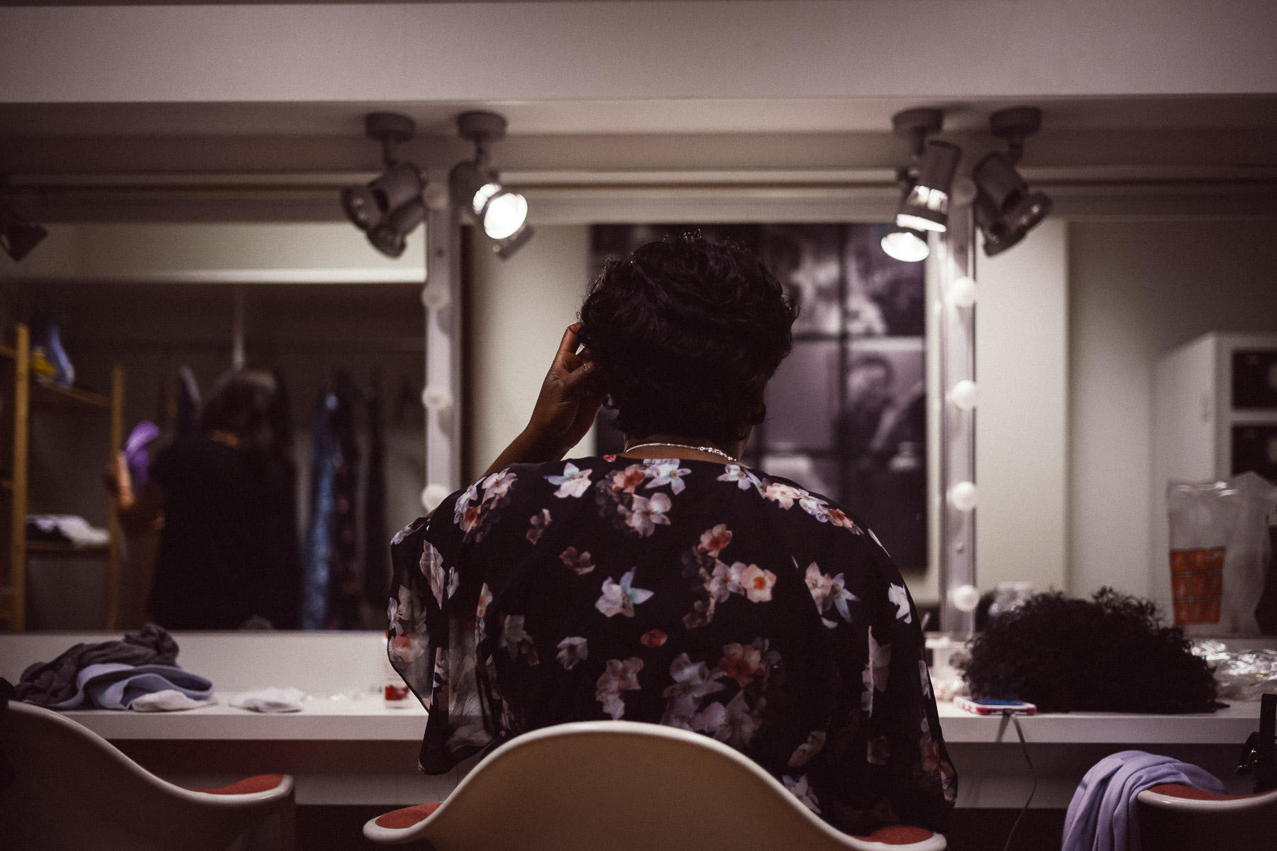 """Roz White  preparing for the role of """"Mamie Till"""" in  Anne & Emmett  at DeLaMar Theater, Amsterdam."""