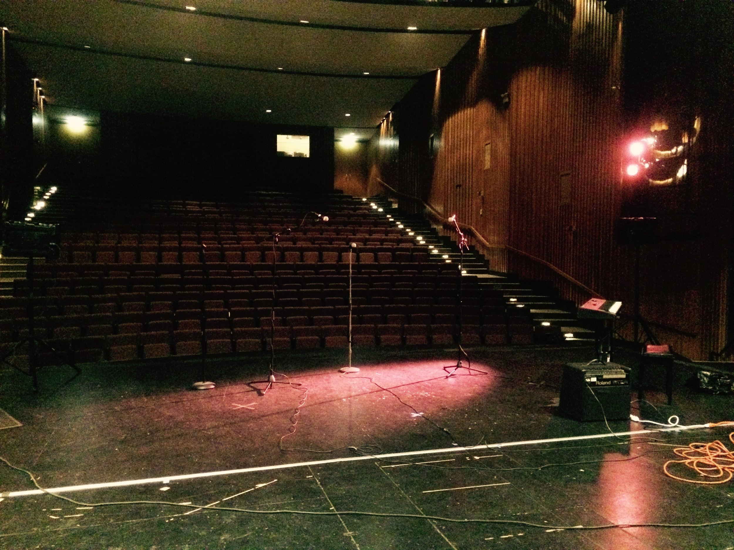 Working on sound and lighting       Mullady Theatre                                 April 6th, 2015