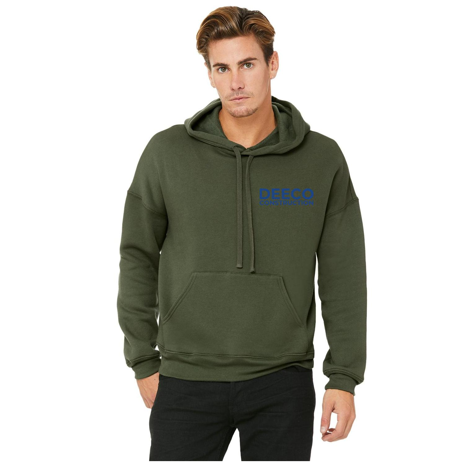 hoodie merch - military green navy text front.jpg