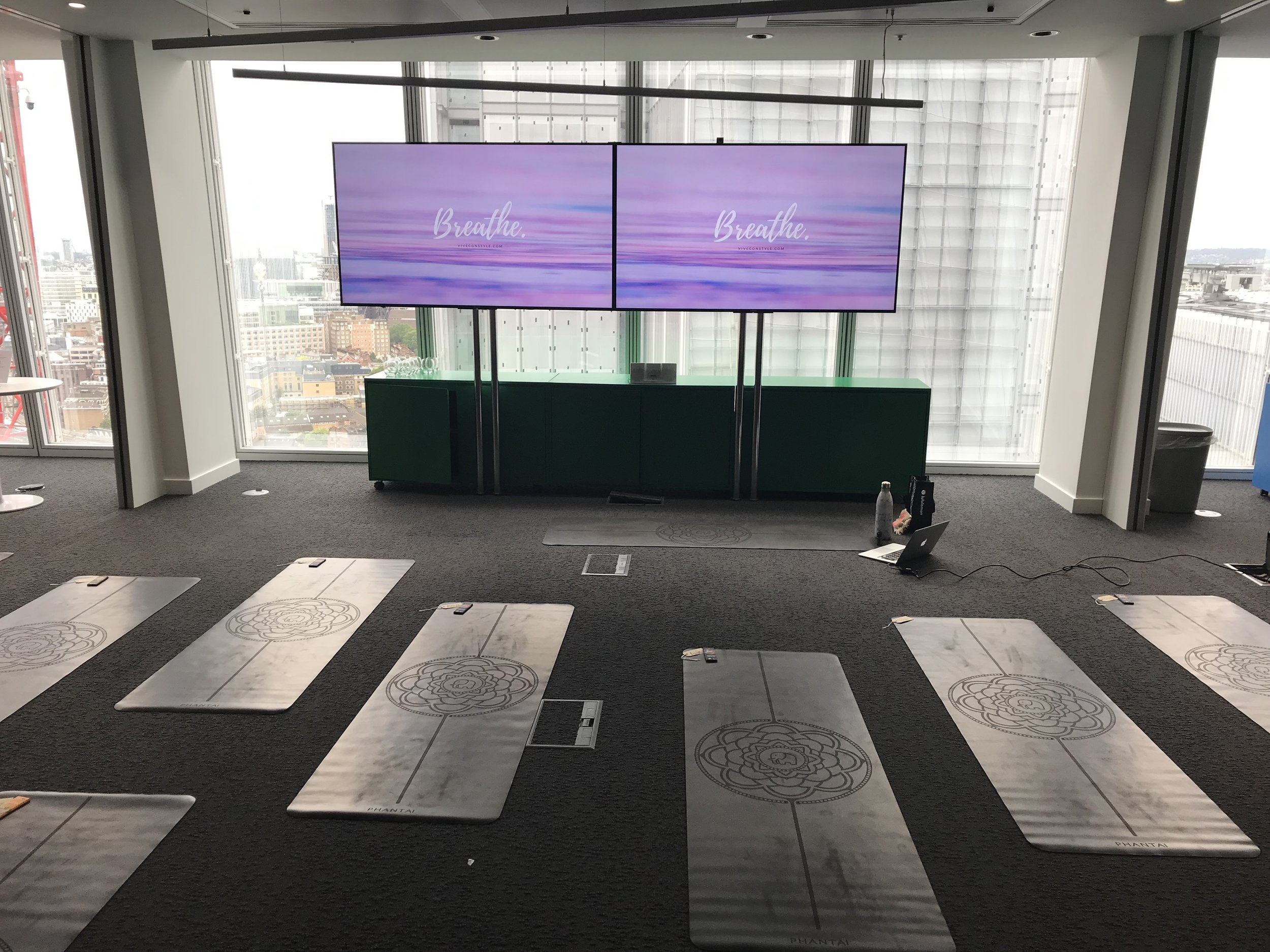 The Shard, Wellness week - Feel incredibly lucky to have taught yoga at The Shard for their wellness week! It was amazing to be teaching on the 23rd floor and with so many lovely yogis.