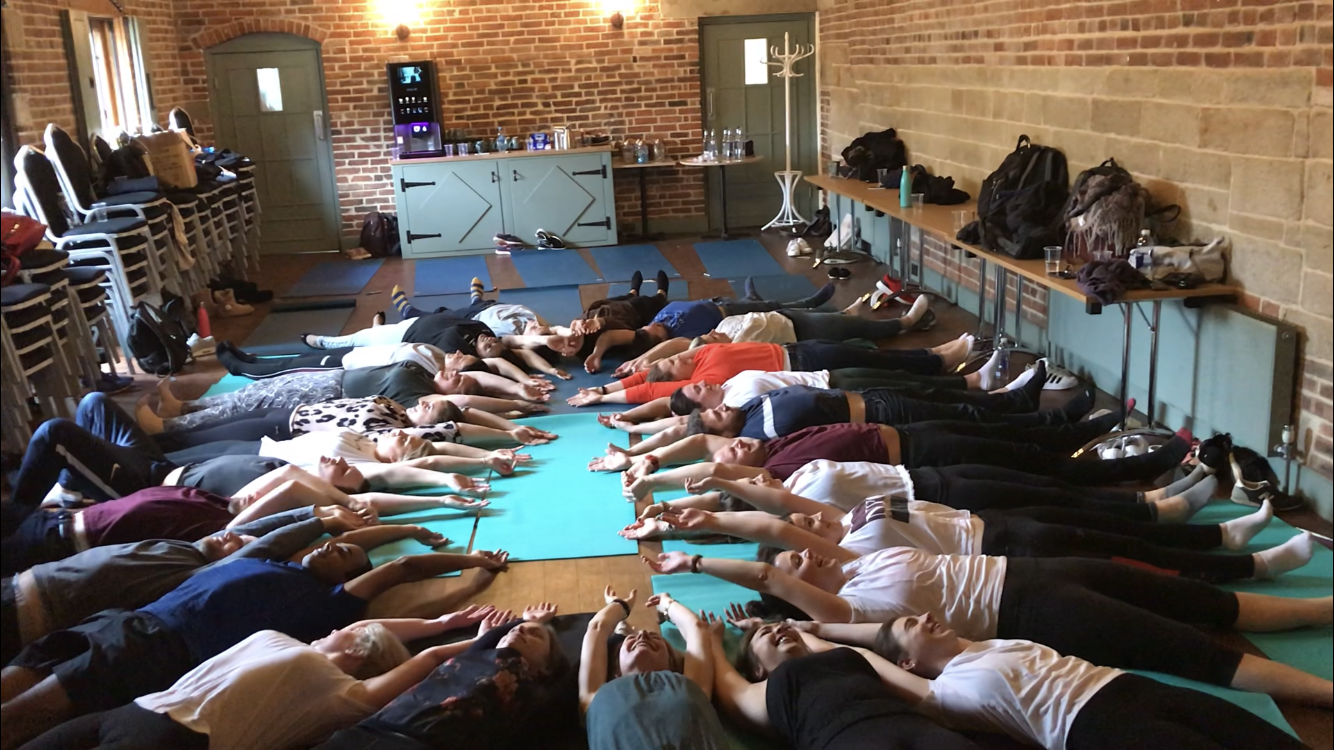 Wellness event, Warrick Castle - Teaching for a major brand at Warrick Castle what an amazing day teaching yoga with a fun team building element!