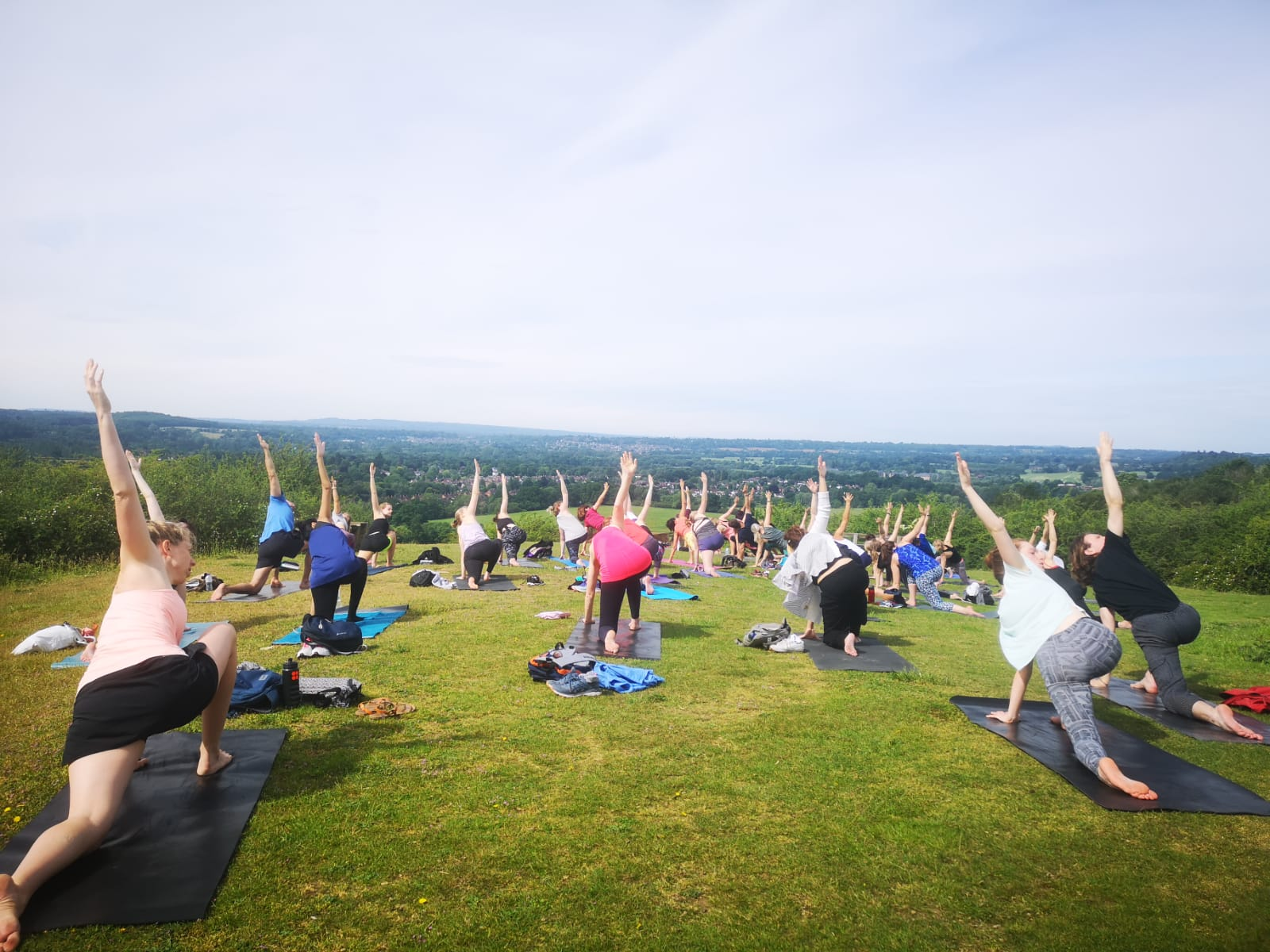 Lululemon Sunday event - Hike and Yoga with lululemon, Guildford. A monthly event open to the community.Beautiful way to spend a Sunday with lovely food after from Pho!