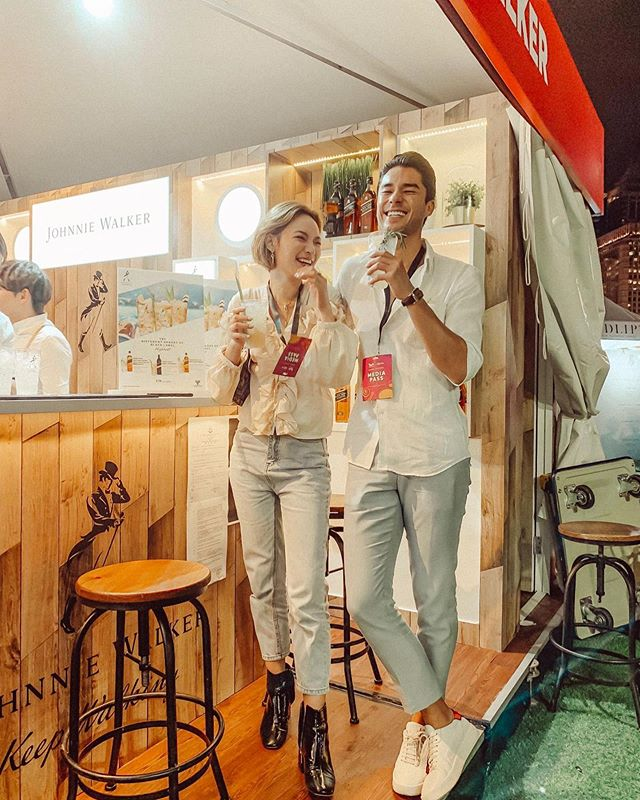 Throwing back to the amazing weekend at #TasteofHongKong! 💎 We need some #highball and #laughters in the city when the weather is so dull! 💭 #blacklabelhighball #johnniewalkerhkmo #cocktail #drinks #chill #whisky #vibe #smile #models #happy