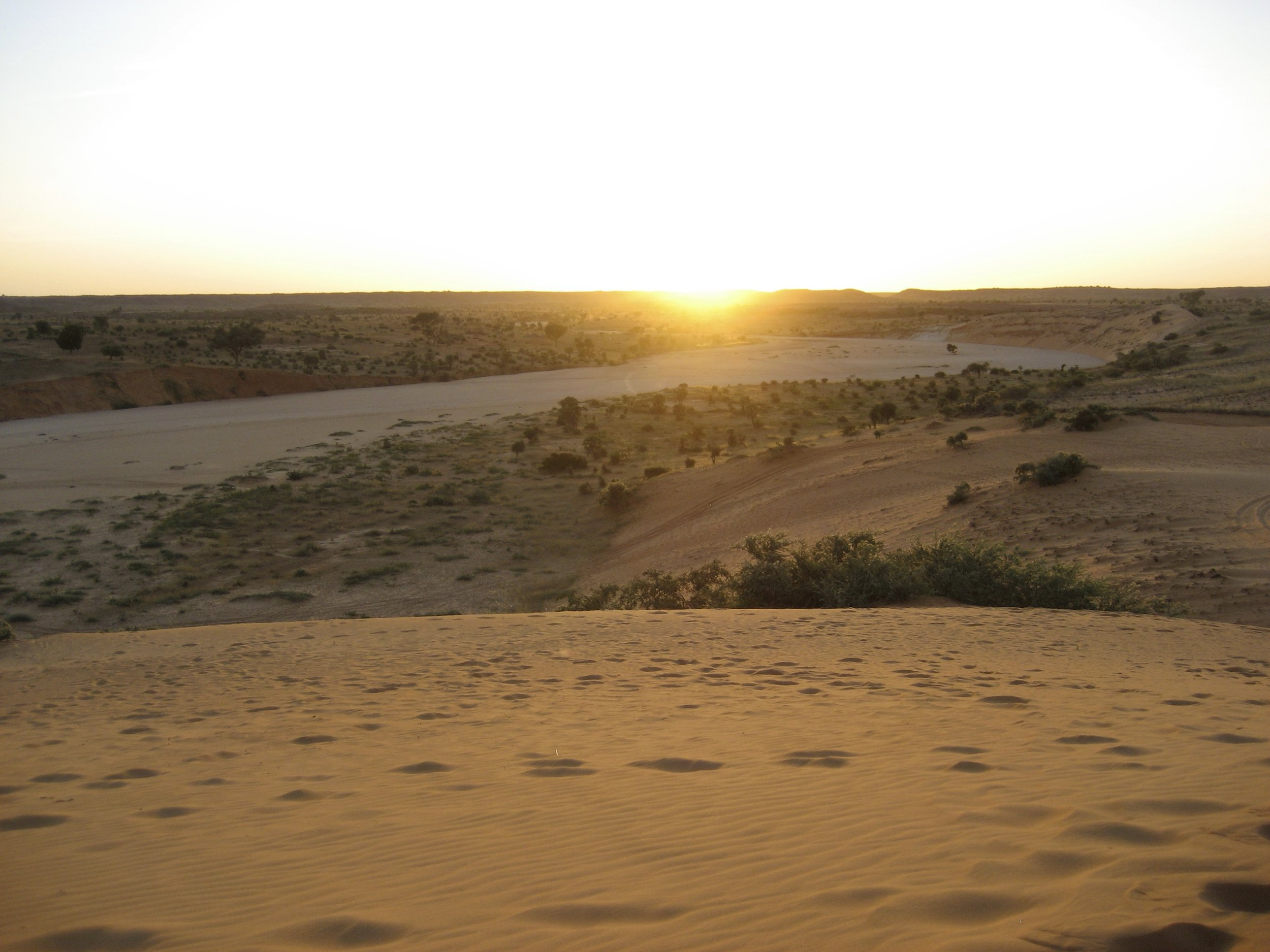Desert in Niger just outside of Niamey
