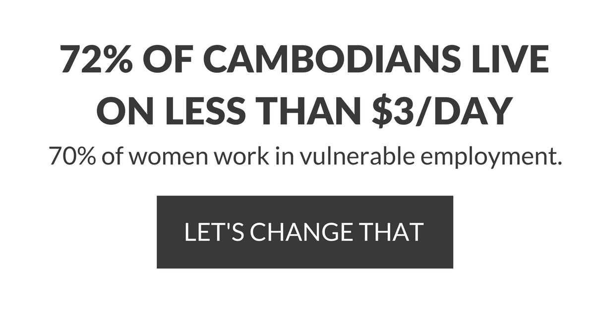 72% OF CAMBODIANS LIVE ON LESS THAN $3%2FDAY70% of women work in vulnerable employment.LET'S CHANGE THAT.png