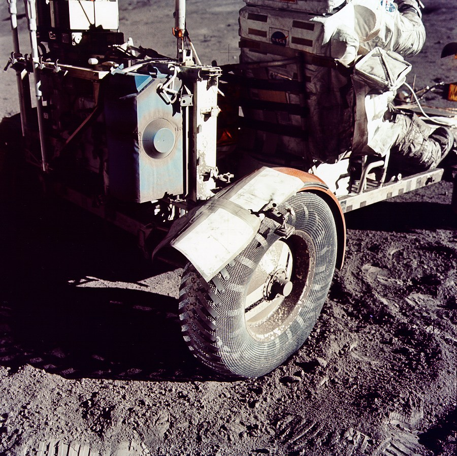 Lunar rover tire - Inspiration for the door comes from the sprung metal pattern.