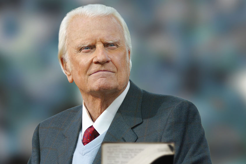Photo of Rev. Graham borrowed from Billy Graham Evangelistic Association website (click photo to link to site)