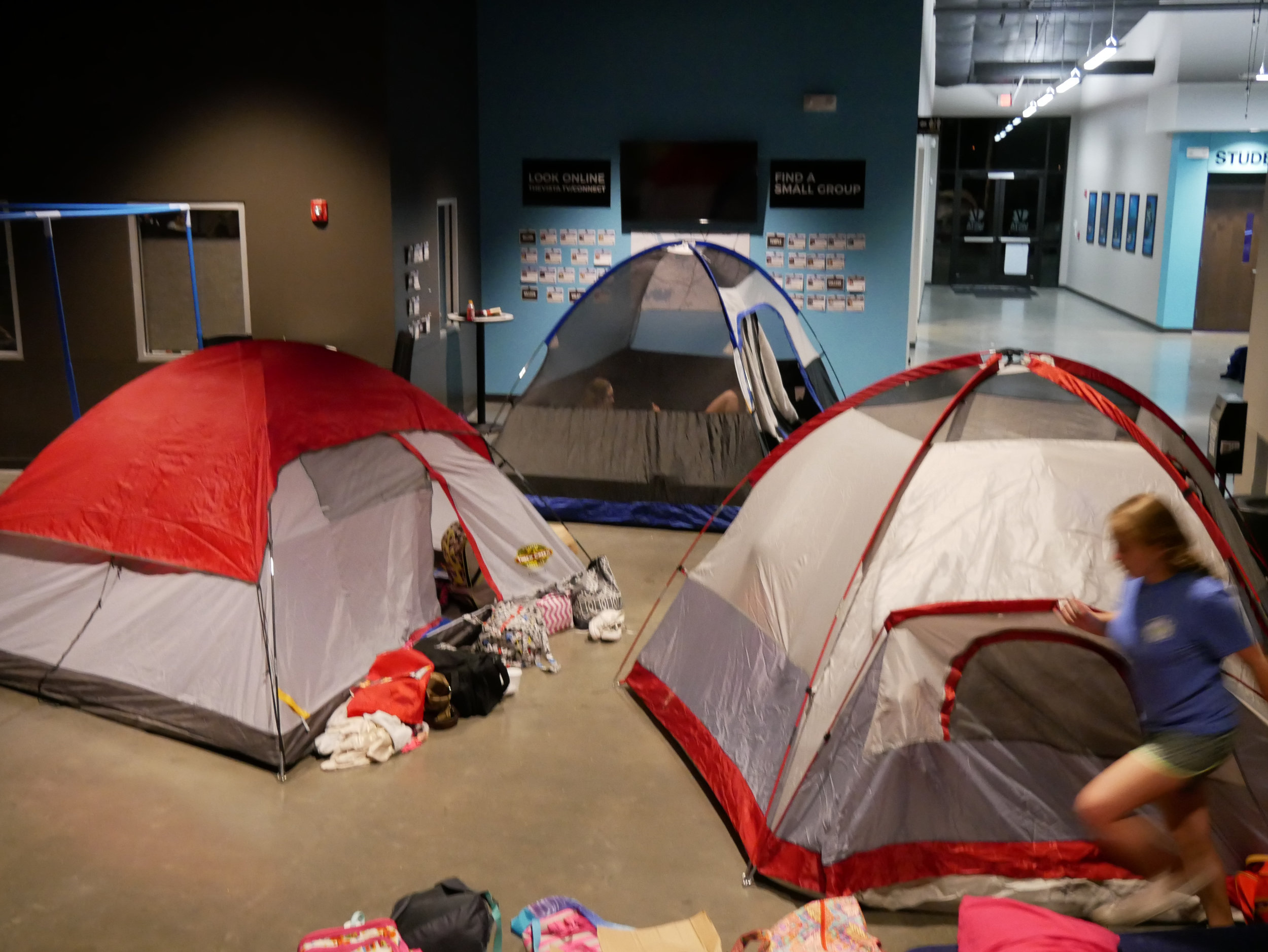 Tents in the Vista Commons!