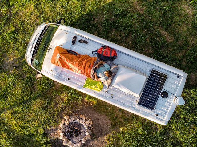 Picture of my Van from the air! I found that amazing free campsite next to Lake Superior in Ontario. 📸@alexchoquette_photography ********** Go follow @horizon_lussier im taking control of their Instagram all summer. . . . . . . . .  #roadtripultramar #camperlifestyle #vanlifemagazine #vanlifeexplorers #projectvanlife #aerialphoto #aerialphotography #viewfromtheair #homeiswhereyouparkit  #campingcanada #campinglife #campinghacks #campingtrip #mecpleinair  #pleinair #pleinairmag  #onserejointdehors #exploreoutdoors #dronephotography #dronephotos #droneperspective #quebecoisenvoyage #nomademag #aventuriersdunord #quebec_travelers #ontario #ontario_adventures