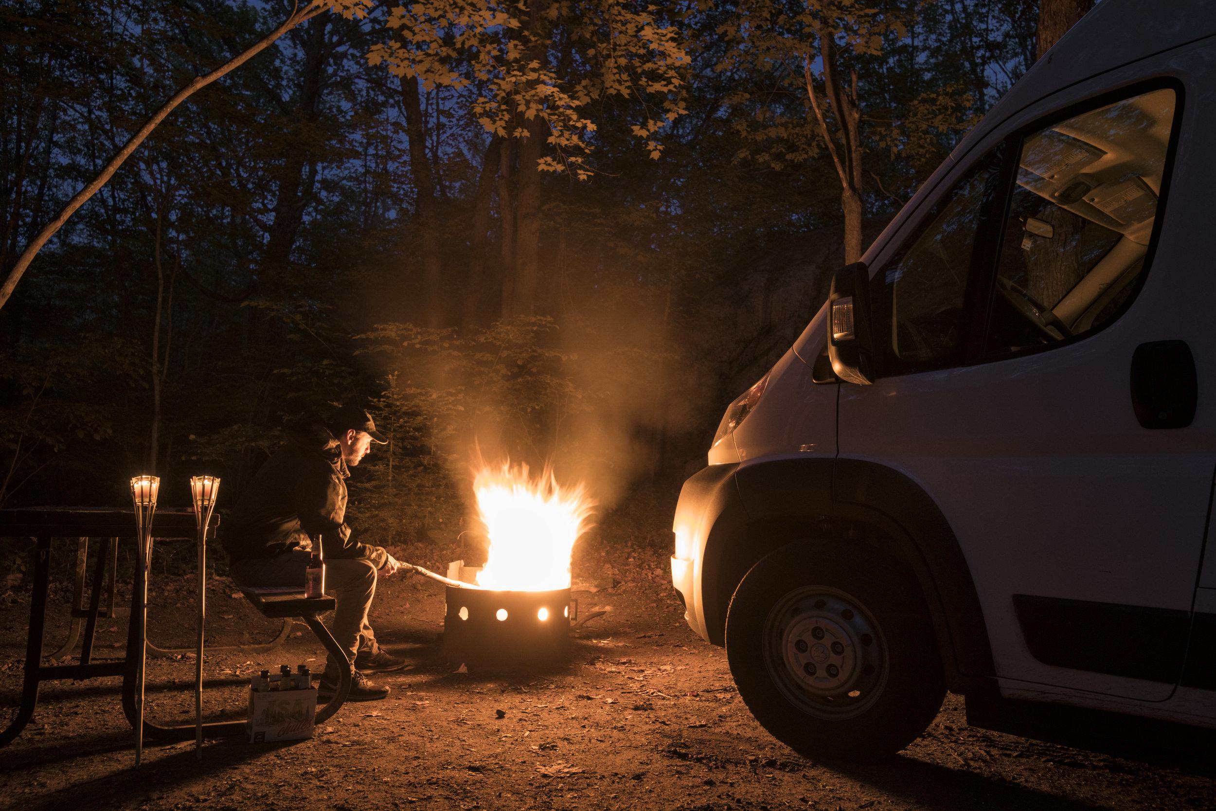Feu de camp au Parc Killarney