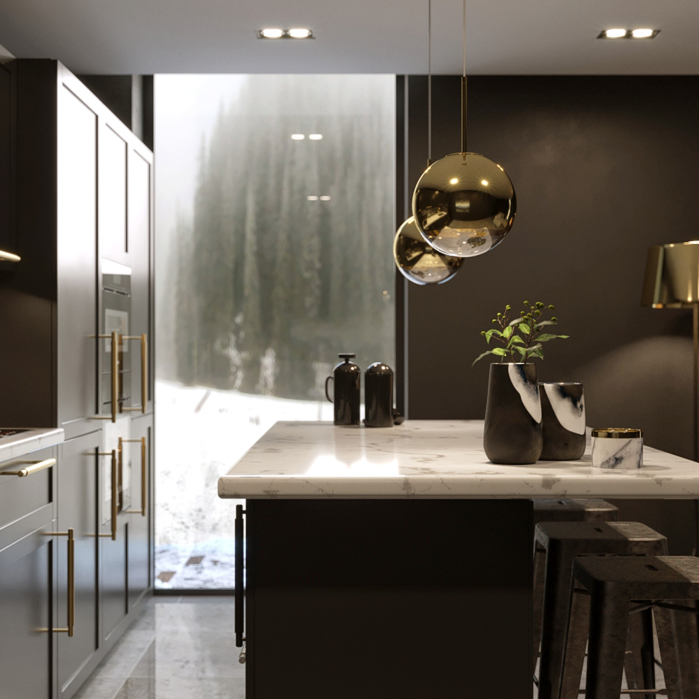Chalet Noir Architectural Visualisation-004