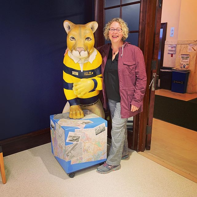 "The student receptionist in the admissions office was very poised and professional so I asked how often people ask her to take their picture with Roc the panther. She cracked a big smile and said ""all the time"" as she jumped up to help me. #H2P"
