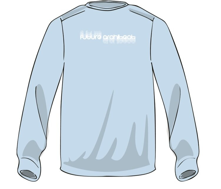 """SWEATSHIRTS NOW AVAILABLE - Buy a super comfy and super stylish """"future architect"""" crewneck sweatshirt! All proceeds help us fund events and support our organization. Venmo AIAS-UMN $25 to purchase, sizes M-XXL available. You will be able to pick up your shirt in Rapson Hall 235, on Mondays, Wednesdays, and Fridays from 1:25-5:30pm, or email us for other pickup options."""