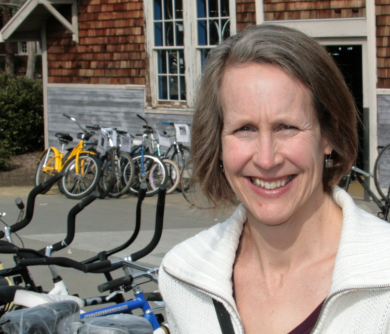 Susan Handy - Dr. Susan Handy is a Professor in the Department of Environmental Science and Policy and the Director of the National Center for Sustainable Transportation at the University of California, Davis. Her current research focuses on bicycling as a mode of transportation and on strategies for reducing automobile dependence. She has lived in Davis with her family for 16 years and is happy to be able to commute by bicycle every day. Her interest in bicycling dates back to her childhood in another California platinum-level bicycle-friendly community that doesn't compare to Davis.