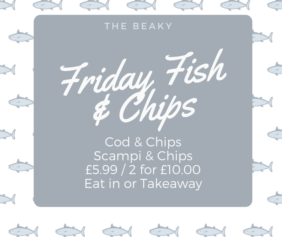 JOIN US FOR FISH & CHIPS EACH FRIDAY AT THE BEACONSFIELD ARMS. -