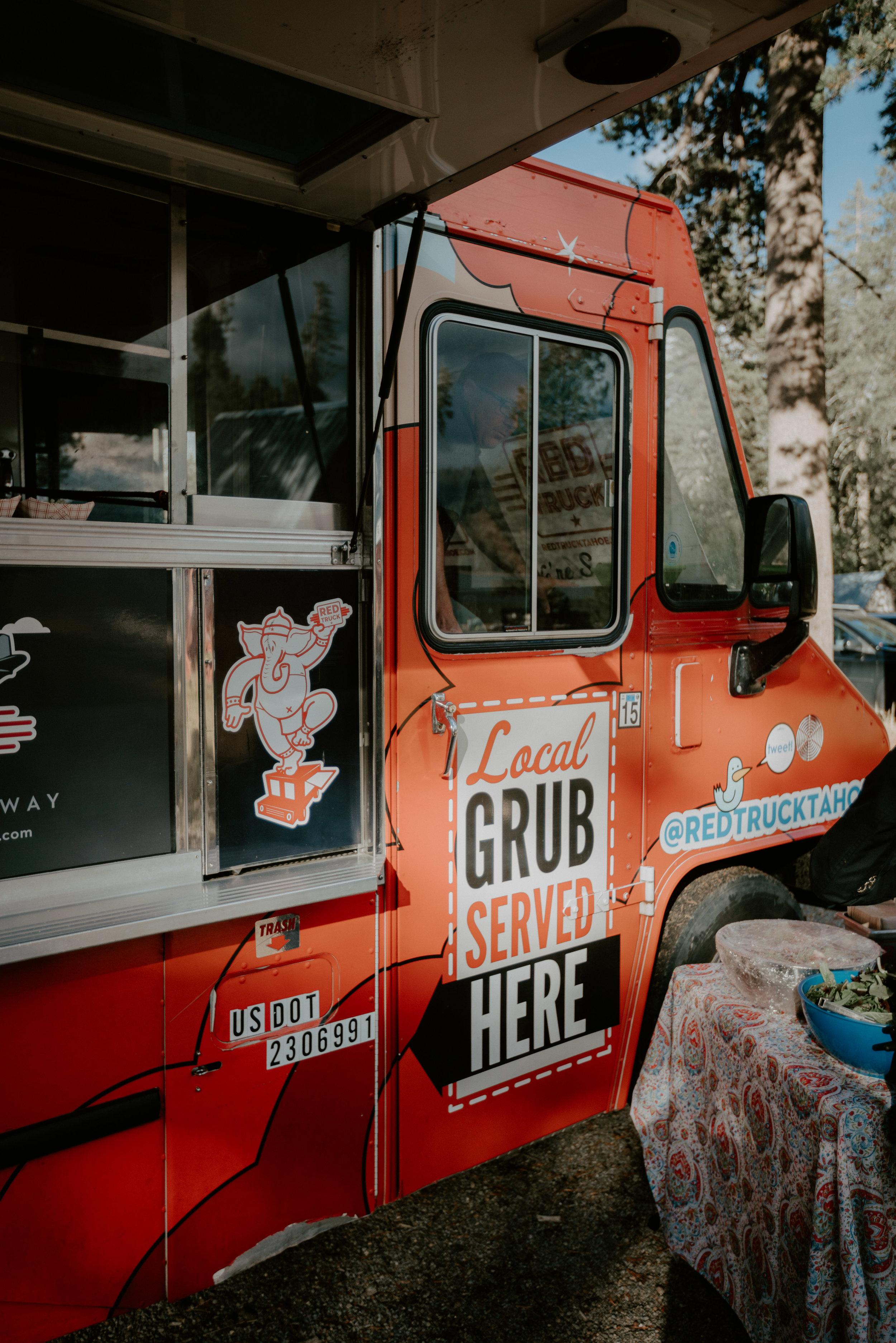 food truck lake tahoe wedding planner red truckee local