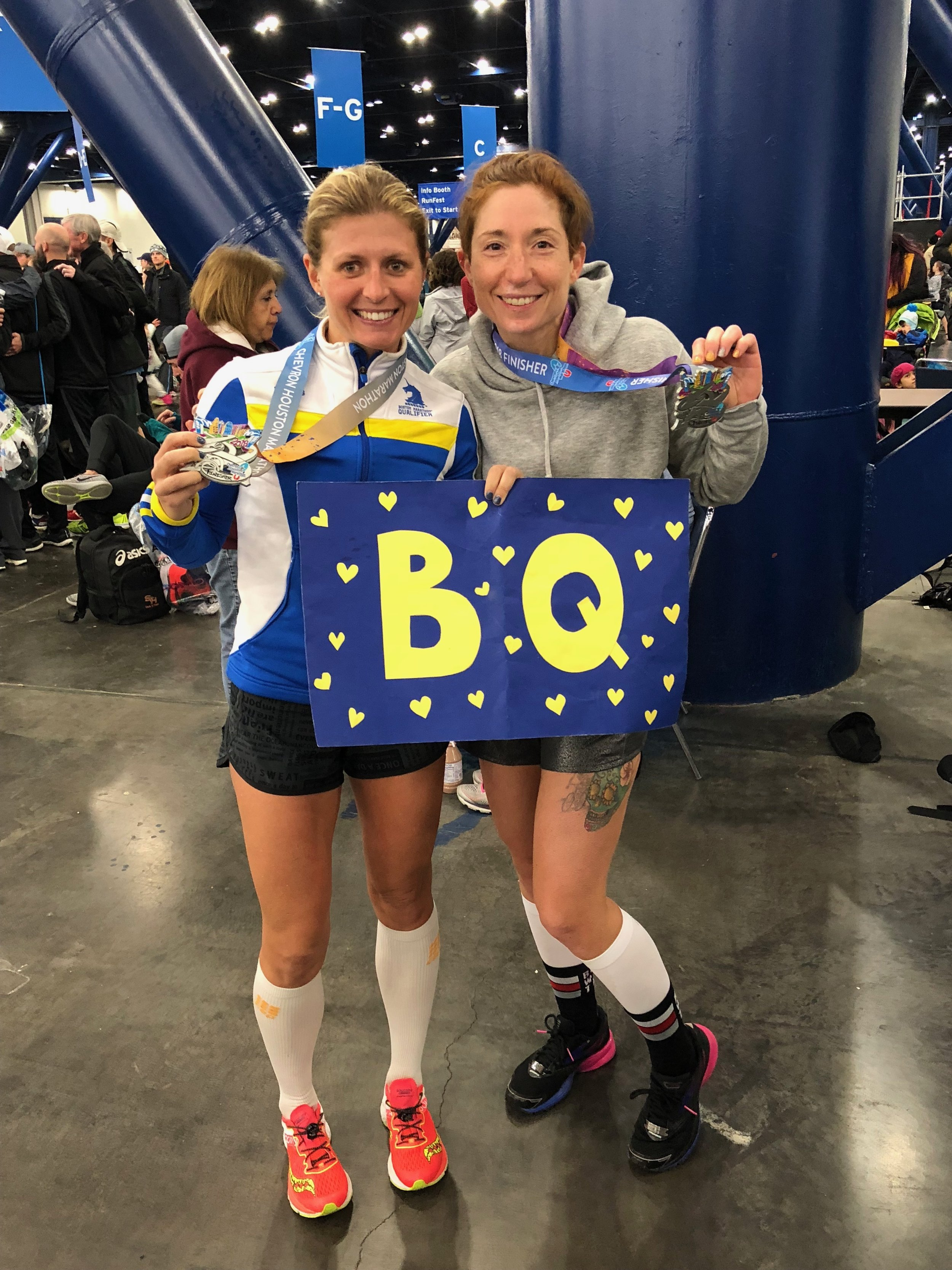 Doreen and I both qualified for Boston. She smashed her BQ time by more than 10 minutes!