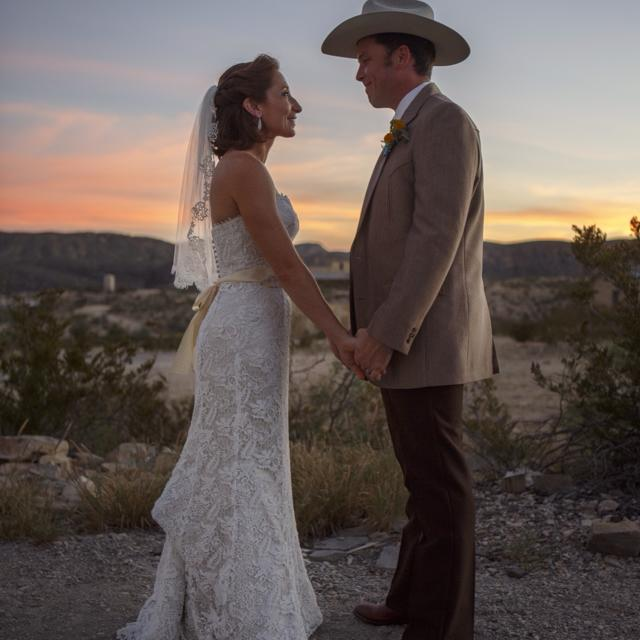 Our wedding in Terlingua in 2014. (Photo by Spencer Selvidge)