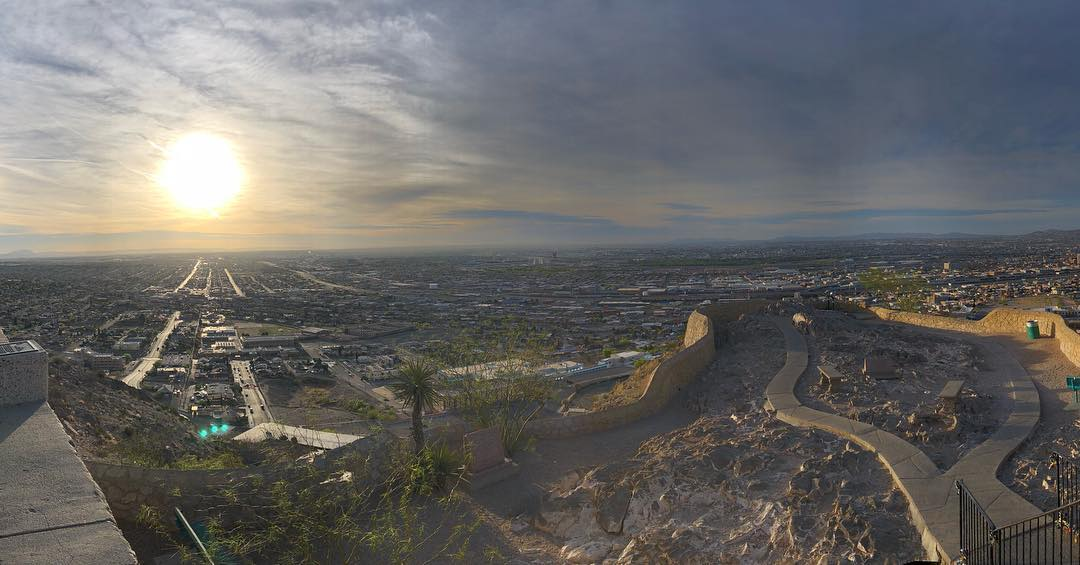 The view from Scenic Drive at sunrise in El Paso. What a glorious morning run.