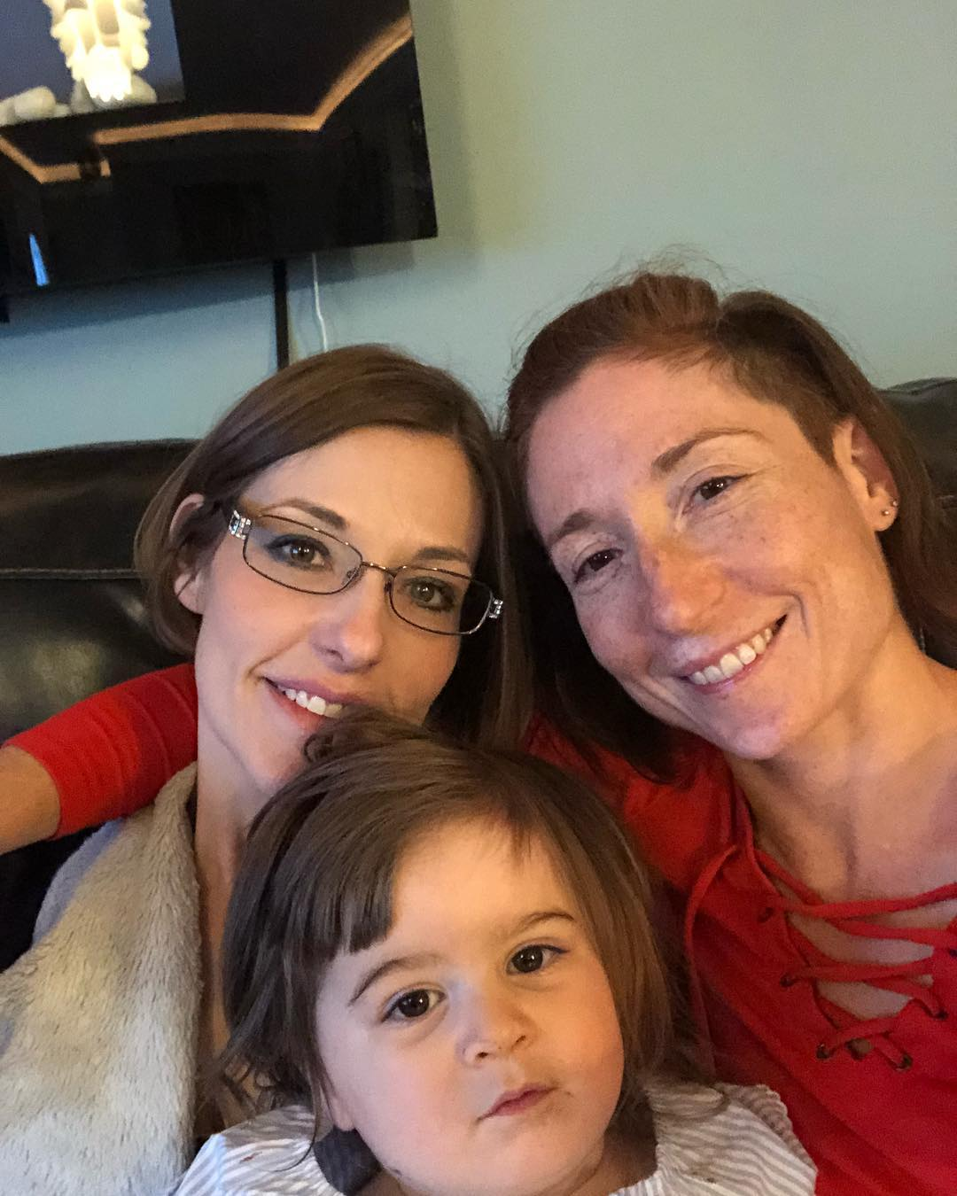 Me and Adaline with my sister, Rebecca. We got to celebrate her graduation from community college during our trip to Kansas.