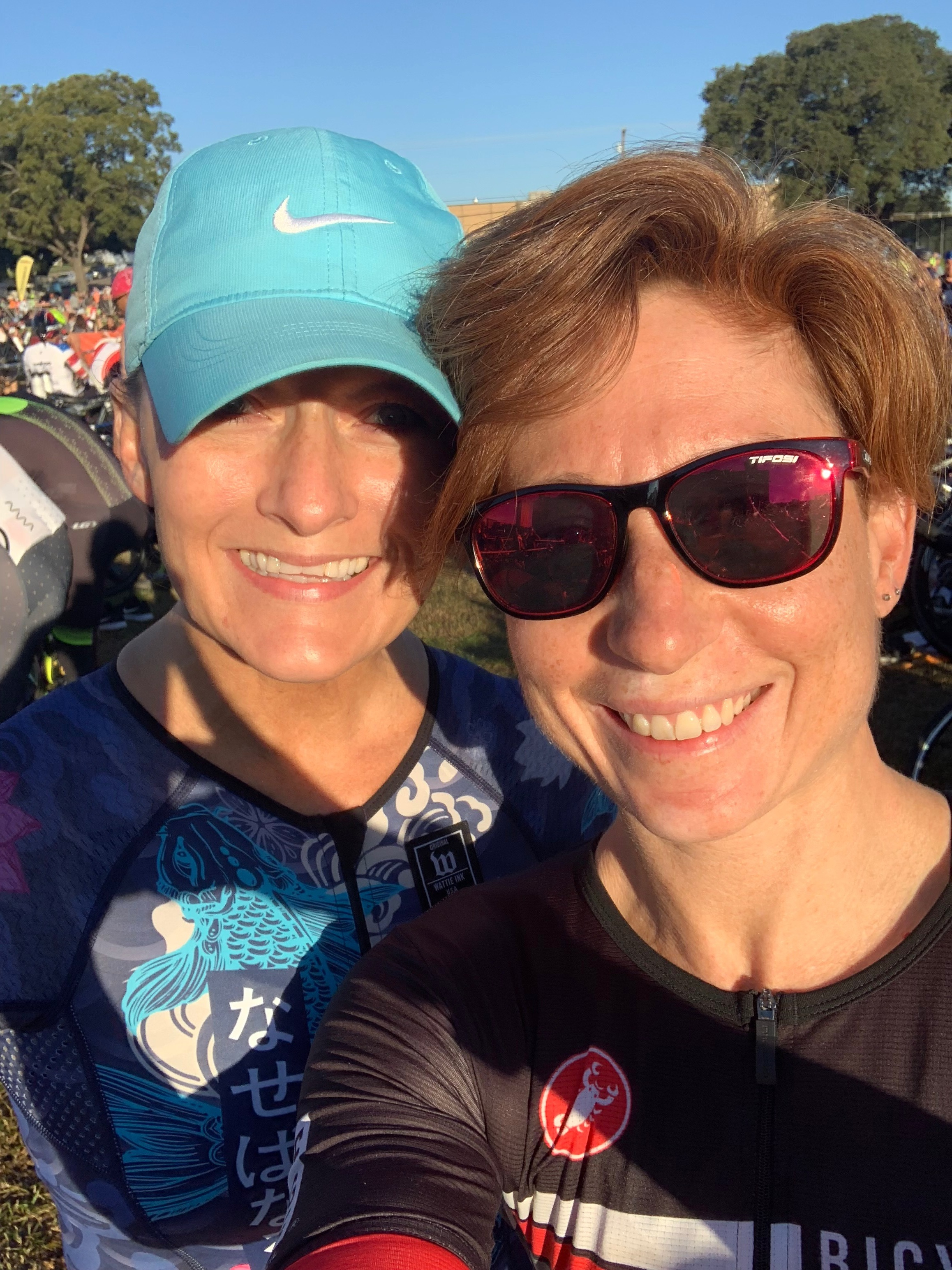 A quick pre-race selfie with Debi, who crushed her first Ironman 70.3. So proud of this badass momma!