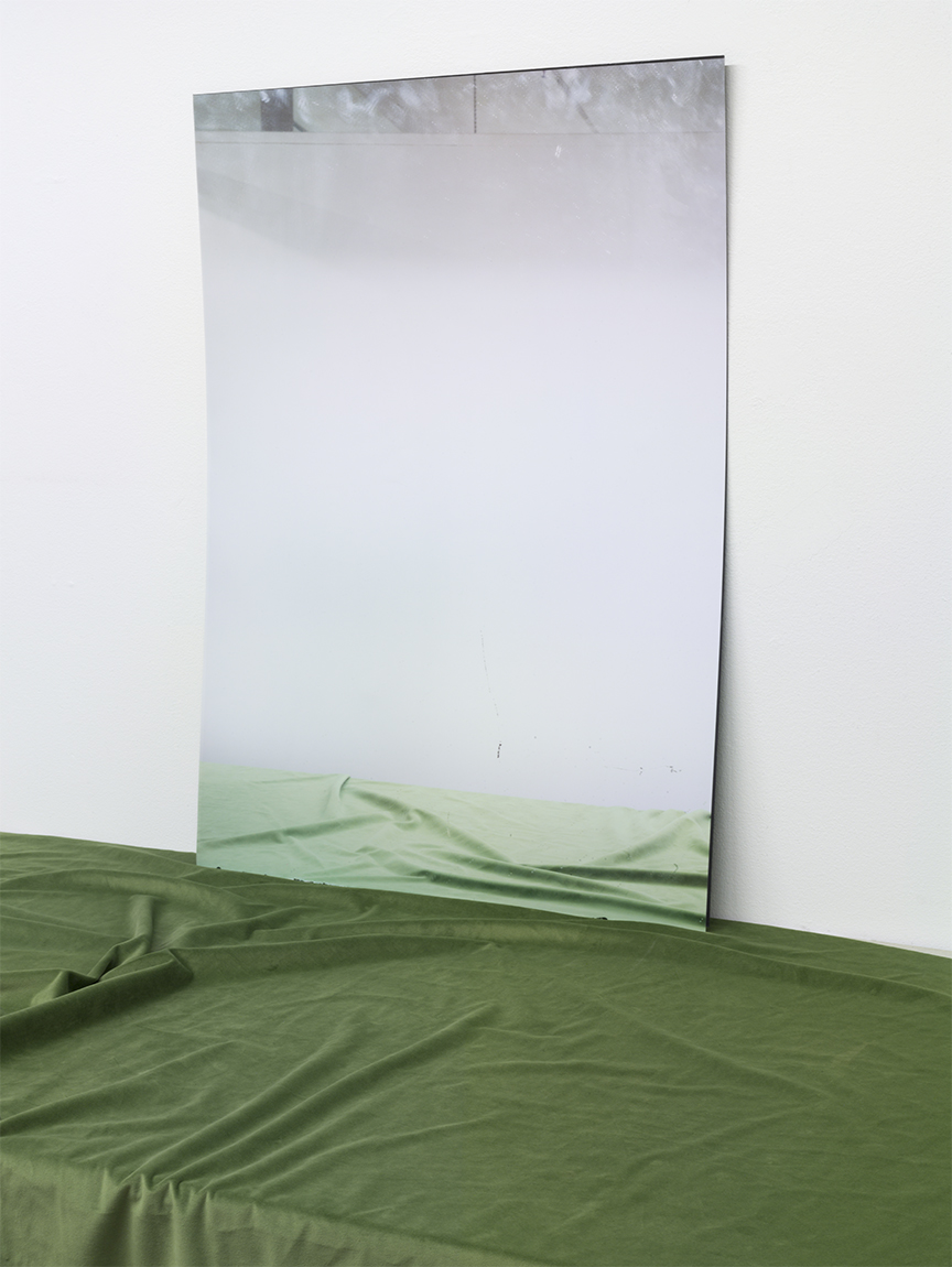 "untitled (green fabric), archival pigment print, 30"" x 40"", 2018"
