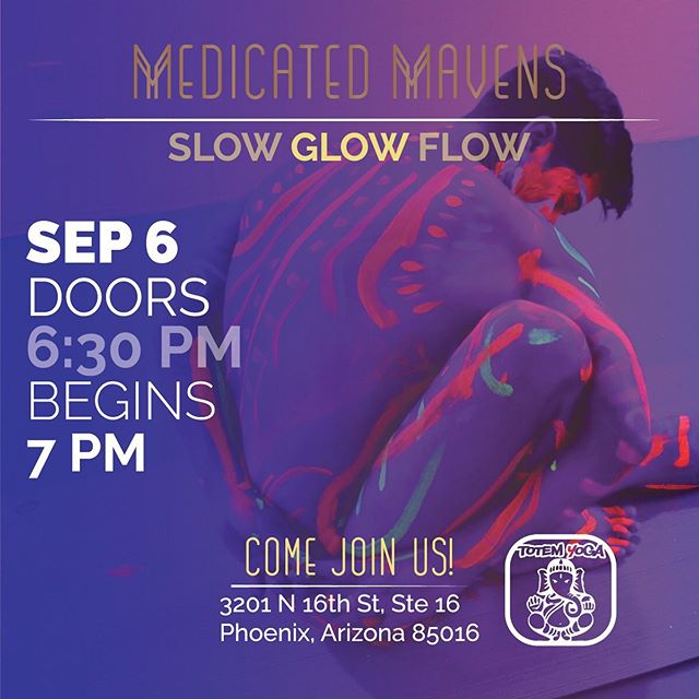 Join the Mavens this Friday night at @totem.yoga for a flow and glow experience you won't forget!  Under the light-hearted, engaging charisma of a Sagittarius Moon, students will have the opportunity to get creative with neon body paint, and get down with a groovin' yoga flow. Grab a few friends and meet us on the mat to let your light and true colors shine! When: Friday September 6 Where: @totem.yoga