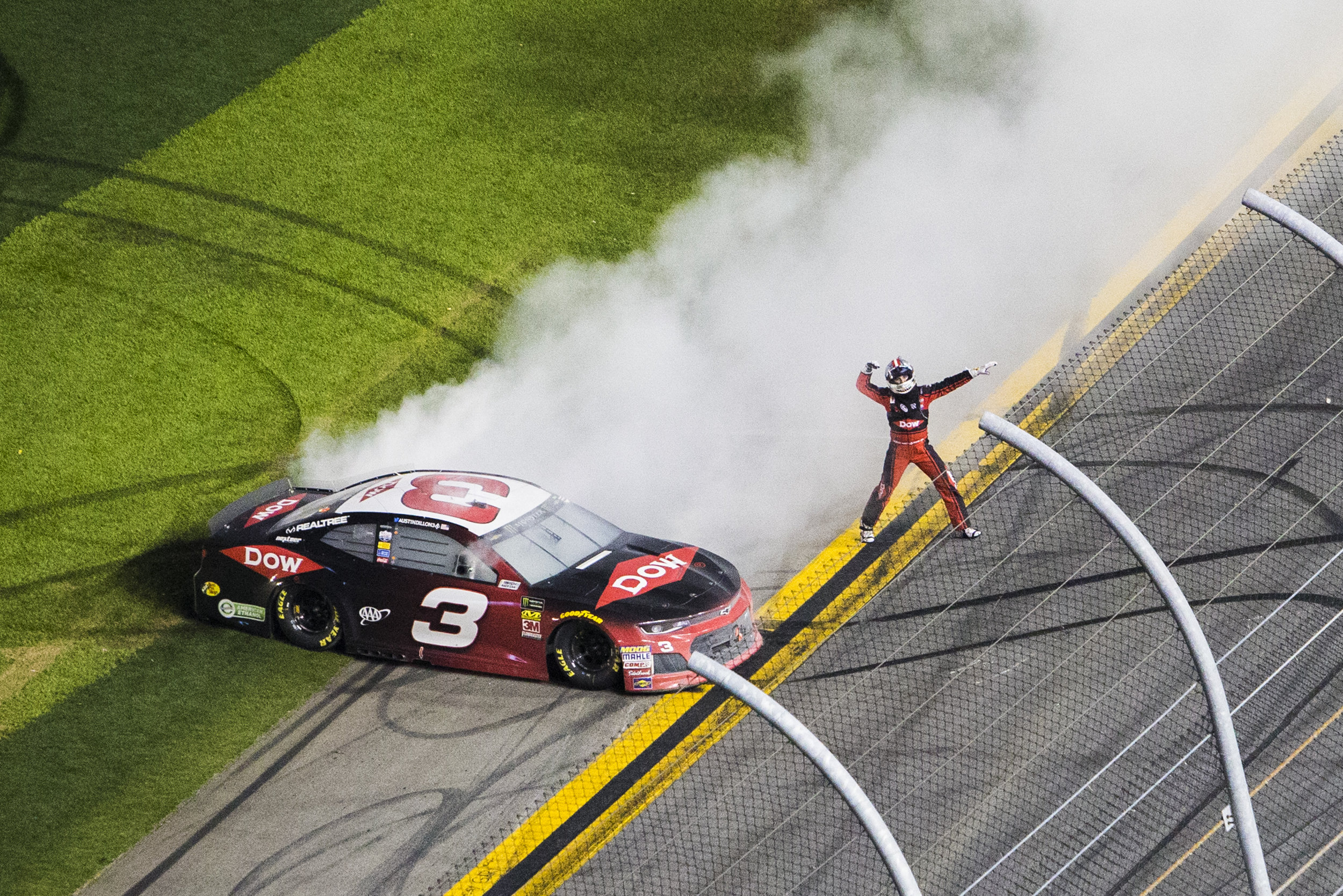Austin Dillon celebrates his first Daytona 500 victory in the #3 Car.