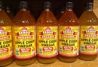 """Bragg's is one commercial version of raw, organic, unfiltered ACV. You can see the sediment or """"mother"""" at the bottom."""
