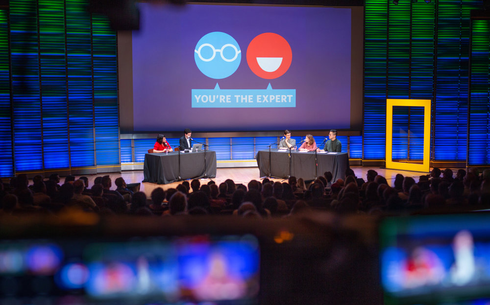 You're the Expert live at National Geographic in Washington, DC Photo by Taylor Mickal