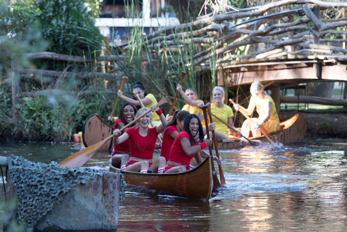 How do canoes work? Find out on S23E2 of The Bachelor. Photo: ABC
