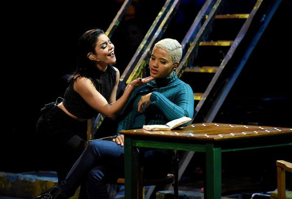 Vanessa Hudgens as Maureen (left) and Kiersey Clemons as Joanne (right)