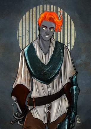 My best boy, Vektro Velikov, from our long-running D&D campaign. (Art by @AlexielApril ! She is marvelous—go find her!)