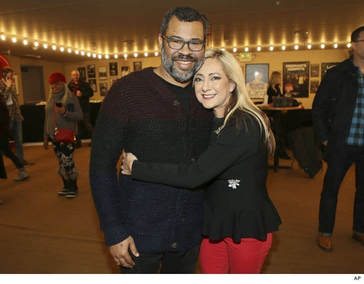 Producer Jordan Peele and Lorena Bobbitt promoting the new documentary.