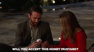 He seems like the type who would ask if he could lick honey mustard off your body, doesn't he?